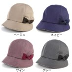 DAKS ダックス キャスクロッシェ 帽子 レディース リボン 上品 婦人 秋 冬 日本製 女性へのプレゼント