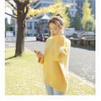 ショッピングタートルネック トップス ニット セーター 長袖 無地 大きめサイズ ゆったり ゆるカジ ハイネック 体型カバー タートルネック シンプル 可愛い 2017 秋冬