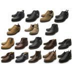 马靴 - メンズ  本革 ブーツ サイドゴア、リング モンクストラップブーツ チャッカブーツ