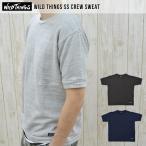 ワイルドシングス メンズ 半袖 スエット スウェット Tシャツ 黒 灰色 紺色