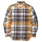 INDIVIDUALIZED SHIRTS x BEAUTY&YOUTH 別注 アメリカ製 ピンオックス チェックBDシャツ 151/2-32 オレンジ/パープル ☆☆j3368