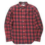 インディビジュアライズドシャツ INDIVIDUALIZED SHIRTS アメリカ製 50周年記念 コットンツイルチェックBDシャツ 141/2-32(STANDARD FIT) レッド 長袖