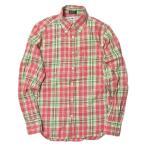 インディビジュアライズドシャツ INDIVIDUALIZED SHIRTS x BEAUTY&YOUTH 別注 アメリカ製 コットンツイルチェックBDシャツ 141/2-32 ピンク 長袖