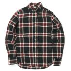 インディビジュアライズドシャツ INDIVIDUALIZED SHIRTS アメリカ製 コットンネルチェックBDシャツ 14 1/2-32(STANDARD FIT) ブラック/ボルドー 長袖