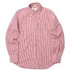 インディビジュアライズドシャツ INDIVIDUALIZED SHIRTS コットンギンガムチェックBDシャツ 14 1/2-32(STANDARD FIT) レッド/ホワイト 長袖 ボタンダウン