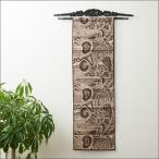 イカットハンガーアジアン雑貨マホガニーおしゃれリゾート木製壁面インテリア