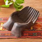 アジアン雑貨木製トレ-仏陀皿小物入れ彫刻インテリア