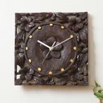 時計壁掛けおしゃれ木製 アジアン家具バリリゾートインテリアモダン壁掛け時計壁時計