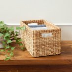 バリ雑貨アジアン雑貨収納籠かごボックス整理小物ウオーターヒヤシンスバスケットナチュラル