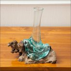 アジアン雑貨花瓶花器フラワーポッド一輪挿し自然
