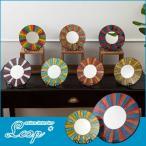 アジアン ミラー 鏡 壁掛け アジアン雑貨 バリ雑貨 ルームミラー 丸型 リゾート 太陽  新着 NEW