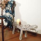 スツールアジアン家具アジアン雑貨椅子木製おしゃれチェアインテリア玄関ベンチ長椅子サイドテーブルチェアーバリエスニックウッドベンチワニ