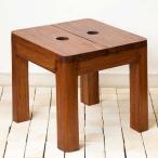 アジアン家具 エスニック ミニスツール 椅子 いす チェア 木製 チーク材 無垢 玄関