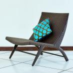 ガーデンチェア ラタン調 おしゃれ アジアン家具 バリ リゾート インテリア モダン 高級感 ラウンジチェア ガーデン用 テラス 屋外
