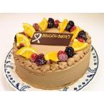 誕生日ケーキ お誕生日 生チョコケーキ 5号 デコレーションケーキ (誕生日 ケーキ チョコレート) (お菓子工房 ロリアン)