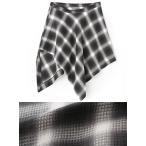 [メンズ]国産 総柄 ラグジュアリー 巻き スカート シャツ風 シャツ チェック柄 チェック 腰巻き ブラック black 黒 ブルー blue 青 新品 送料無料