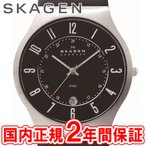 ショッピング星野源 スカーゲン 腕時計 メンズ SKAGEN 逃げ恥 星野源 着用 GRENEN スチール・レザー 37mm ブラック/シルバー/ブラックレザー 233XXLSLB