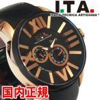 アイティーエー 腕時計 Opera オペラ 自動巻き ブラック/ローズゴールド I.T.A. ITA Ref.21.00.06