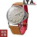アイティーエー 腕時計 I.T.A. Gagliardo ガリアルド ドーム型ガラス メンズ ベージュ/シルバー/ブラウン&ダークブラウンレザー Ref.23.00.01
