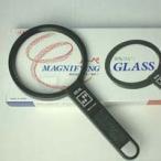 拡大鏡 プラスチックレンズ 手持ちルーペ 虫眼鏡 虫めがね 天眼鏡 アイデアルルーペ 1140-P 2倍&4倍 90mm 池田レンズ