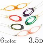 ペンダント ルーペ 双眼メガネタイプ 3.5ディオプター 強度 老眼鏡(シニアグラス)のように使える ネックレス 携帯 おしゃれ アウトレット 池田レ
