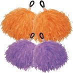 ポンポン チア 2個組 ハンドフリーポンポン テープ 学芸会 衣装 発表会 ダンス 運動会 体育祭 子供 キッズ