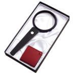 LED付ルーペ 虫眼鏡 拡大鏡ギフトセット G-45 LEDライト付 ハンドルーペ 2.5倍 ポケットルーペ 3.5倍