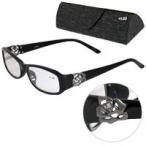 定形外郵便送料無料 老眼鏡 バラ 柄 ローズ 606BK ブラック リーディンググラス シニアグラス 男性用 女性用 おしゃれ