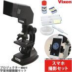 ショッピング自由研究 顕微鏡 小学生 スマホ撮影セット 学習 子供 ビクセン ミクロスコープS600 プロジェクター 自由研究 生物顕微鏡