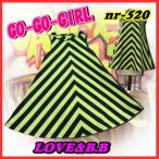 第二弾!【GOGO-GIRL】風ノースリーブワンピース・ストライプS(120cm-130cm)M(140cm-150cm)L(160cm-M)XL(L-XL)キッズダンス衣装/ディスコ