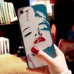 iPhoneケース 女優 マリリン・モンロー ポップアート iPhone8 iPhone7 iPhone6 スマホケース スマホカバー ソフトケース