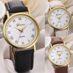 腕時計 レディース ウォッチ 大きめ文字盤がオシャレなローマ数字インデックスレディースウォッチ 腕時計
