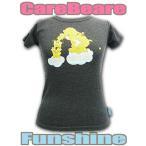 ショッピングケアベア 送料無料 ケアベア レディース TシャツF ファンシャインベア&星 ダークグレー Care Bears