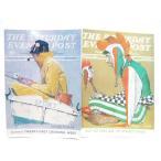 送料無料 在庫限り★ ノーマン・ロックウェル ポストカード 2枚セット T-14 絵画 インテリア雑貨 US