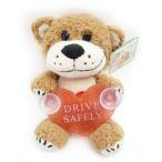 Suzy's Zoo スージーズー 吸盤付きカーピタン ぬいぐるみ DRIVE SAFELY