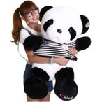 ぬいぐるみ誕生日スプレゼント パンダ 70cm リアルぬいぐるみ ホッキョクグマ(シロパンダ)<スリーピング