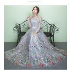 ウエディングドレス 豪華な ウェディングドレス☆ロングドレス☆ フリル ドレス ☆格安【結婚式】【ウェディングドレス 二次会】【妊婦さんもOK】