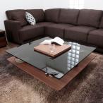 センターテーブル ガラス リビング ローテーブル コーヒーテーブル スクエア モダン 応接 正方形 強化ガラス