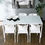 ダイニングテーブルセット 7点 6人用 チェア シンプル カフェ おすすめ おしゃれ カフェ スタイル