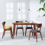 Yahoo!ロウヤダイニングテーブルセット 5点 4人用 突板 テーブル チェア 食卓 おしゃれ カフェ スタイル