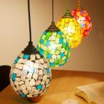 ペンダントライト 照明器具 照明 LED対応 デザイン ガラス LED電球対応 モザイク アンティーク風 ステンドグラス風 レトロ おしゃれ リビング ロウヤ LOWYA