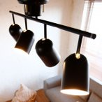スポットライト シーリング シーリングライト 4灯 LED電球対応 照明 天井 天井照明 スポット スチール リモコン付き リモコン リビング おしゃれ