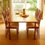 ショッピングダイニングテーブル ダイニングテーブルセット 7点 6人用 木製 幅150〜194 チェアー 食卓 おしゃれ カフェ スタイル