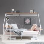 ベッド シングル シングルベッド ロフト システム デスク テーブル 宮付き コンセント付 ハンガーラック おしゃれ 人をダメにするベッド ロウヤ LOWYA