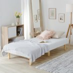 ローベッド シングル シングルサイズ ベッド ヘッドレス ポケットコイルマットレス付き ベッド マットレス ベッドマット ベットマット 脚付マットレス