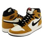 スニーカー メンズ ナイキ エア ジョーダン 1 レトロ ハイ OG NIKE AIR JORDAN 1 RETRO HIGH OG ROOKIE OF THE YEAR GOLD HARVEST/BLK