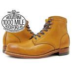 ビッグ・スモールサイズWOLVERINE 1000 MILE BOOT PLAIN TOE BOOT ウルヴァリン/ウルバリン プレーントゥブーツ TAN