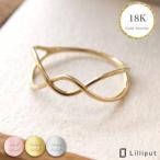 リング 重ね着け 指輪 ring レディース 18k K18 18金 Handmade ピンクゴールド gold 金 華奢 ゴールド 品質 結婚式 大人可愛い CZ プレゼント ギフト送料無料
