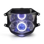 Demoneyes デーモンアイ HID プロジェクター LED ヘッドライトユニット ブルー ホンダ CBR1100XX スーパーブラックバード Blackbird 1999-2007