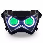 Demoneyes デーモンアイ HID プロジェクター LED ヘッドライトユニット グリーン カワサキ Z250 2013-2015